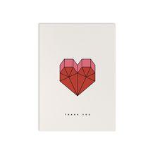 redfries geometric heart – Postkarte DIN A6