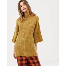 Pieces - Pullover mit weiten Ärmeln - Gelb