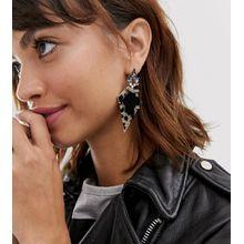 Ted Baker – Statement-Ohrringe mit Kunstharzdetail und Kristallverzierung-Mehrfarbig