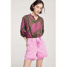 "CLOSED Worker ""85 Coloured Rigid Denim Shorts magenta"