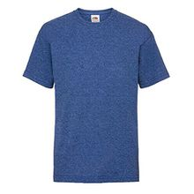 Fruit of the Loom Kinder Unisex T-Shirt, kurzärmlig (12-13 Jahre (152)) (Retro Royal Meliert)