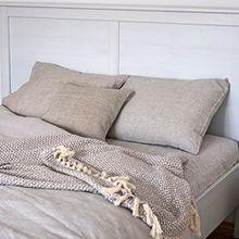 SUPER Leinen Bettwäsche-Set Welna, 2 Bettbezüge 140x200 cm + 2 Kissenbezüge 40x80 cm Natur Beige/ Varvara Home 1594-1470
