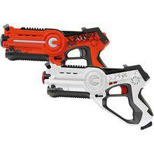 Jamara Impulse Laser Battle Set orange/weiß