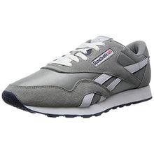 Reebok Classic Nylon, Herren Sneakers, Grau(Platinum/Jet Blue), 48.5 EU (13 Erwachsene UK)