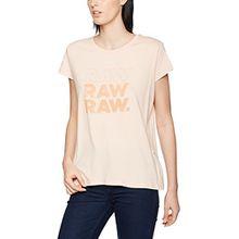 G-STAR RAW Raw Damen T-Shirt Saal Straight R T Wmn S/S, Rosa (Necta Peach 7171), 38 (Herstellergröße:M)