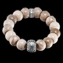 "Thomas Sabo Armband ""Ethno Power Bracelet Braun"" hellblau A1577-353-16-L15"