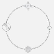 Swarovski Remix Collection Star Strand, weiss, Rhodiniert