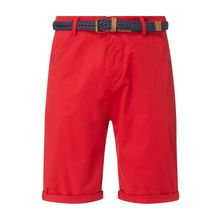 Relaxed Slim Fit Chino-Shorts mit Gürtel