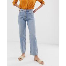 Selected Femme - Gerade geschnittene Jeans in Mittelblau - Blau