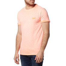 Superdry Shirt Men Orange Label Low Roller Tee Hyper Pop Orange, Größe:L