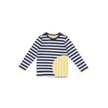 ESPRIT Shirt marine / weiß