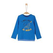S.Oliver RED LABEL Shirt himmelblau / goldgelb / schwarz