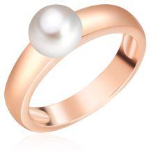 Valero Pearls Silberring mit Perle rosegold / perlweiß