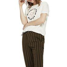 Scotch & Soda Maison Damen Open Neck Logo T-Shirt, Elfenbein (Off White 01), Medium
