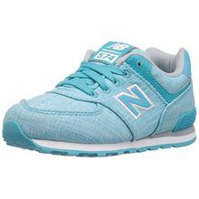 New Balance Unisex-Kinder Sneaker, Mehrfarbig (Teal/White), 38 EU (5 UK)