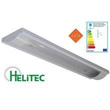 LED Deckenlampe Büroleuchte für 2x 120cm T8 G13 LED Röhren 230V / HRS-T12 / Deckenleuchte Lagerbeleuchtung Aufbauleuchte für Industrie- und Schule Büro Sozialräum Korridor Treppenhaus und Lagerräum Anwendung im Haushalt Warenhaus u. Markt HELITEC