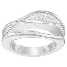 Hilly Ring, weiss, rhodiniert