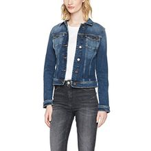 Tommy Jeans Damen Jeansjacke Tjw Vivianne-Slim Trucker Jacket, Blau (Vermont Mid Blue Stretch 911), Small