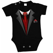 BABY BODY Smoking Suit Kurzarm ( Schwarz , 62 )