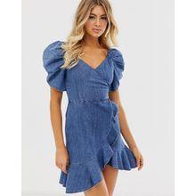 Miss Sixty - Ausgestelltes Jeanskleid mit Riemen - Blau