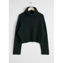 Wool Blend Turtleneck Sweater - Green