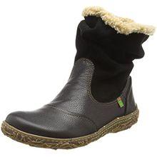 El Naturalista Damen N758 Soft Grain-Lux Suede Black/Nido Schlupfstiefel, Schwarz (Black N01), 39 EU