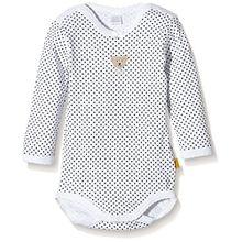 Steiff Unisex Baby Body, Weiß (Bright White), Gr. 9-12 Monate (JHerstellergröße: 74)