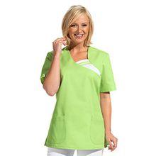 clinicfashion 12612036 Schlupfhemd hellgrün für Damen, Mischgewebe, Größe XL
