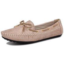 Fangsto Boat Shoes, Damen Mokassins Grün Khaki