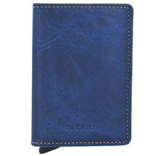 Secrid Slimwallet Indigo Kreditkartenetui Geldbörse RFID Leder 6,5 cm
