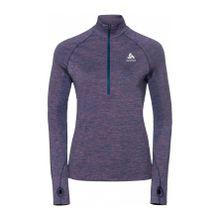 Odlo - Irbis Warm 1/2 Zip Damen Laufshirt (blau/grau) - XS