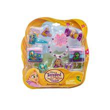 Joy Toy Rapunzel Schmuckset mit 2 Glitzerhaarspangen, 8 Haarbänder
