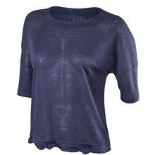 Falke T-Shirt Fash SS Tee mit Knotendesign 37185-6177 T-Shirts dunkelblau Damen