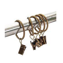 Miya@ hochwertige 30 Packung Metall Vorhang Clip Ringe Gardinenringe mit Clip Drapery Vorhang Ringe mit Clip (Bronze)