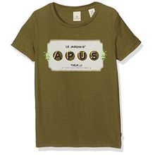 Scotch & Soda Shrunk Jungen T-Shirt Theme Related Artwork Tee, Grün (Grassland 1084), 116 (Herstellergröße: 6)