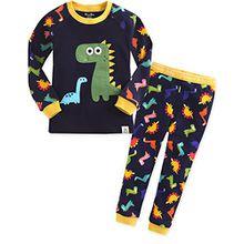 Vaenait Baby Kinder Jungen Nachtwaesche Schlafanzug-Top Bottom 2 Stueck Set Buddy Dino M