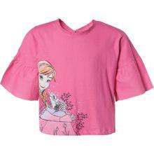 DISNEY T-Shirt 'Die Eiskönigin' mischfarben / pink