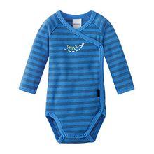 Schiesser Baby-Jungen Body Wickelbody 1/1, Blau (Blau 800), 68 (Herstellergröße: 068)