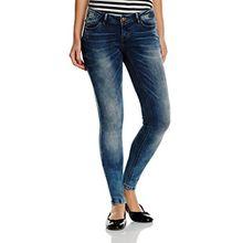 VERO MODA Damen Slim Jeanshose VMONE SLW JEANS GU969 NOOS, Gr. W31/L34 (Herstellergröße: 31), Blau (Medium Blue Denim)