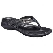Crocs - Women's Capri Strappy Flip - Sandalen Gr W11;W6;W7 grau/weiß;schwarz