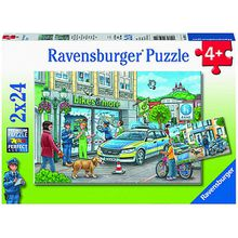 Unterwegs mit Polizeimeisterin Hannah, 4er Set Puzzle, 2 x 20 / 2 x 24 Teile