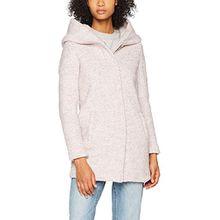 ONLY Damen Mantel Onlindie Noma Wool Coat CC Otw, Beige (Warm Taupe Detail:Melange), 38 (Herstellergröße: M)