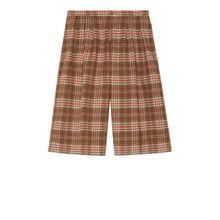 Shorts aus karierter Wolle