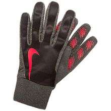 Kinder Feldspielerhandschuhe schwarz/rot