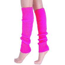 A&Z; Super Warme Damen Frauen Beinstulpen Stricken Stiefel Manschetten Socken Leg Knit Stulpen Warmers Socks Cuffs Knie 10 Farben (Rose Red)