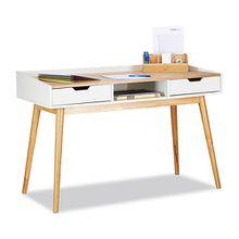 Schreibtisch mit 2 Schubladen natur