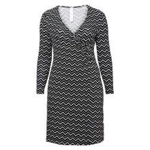 Sheego Style Kleid dunkelgrau / schwarz / weiß