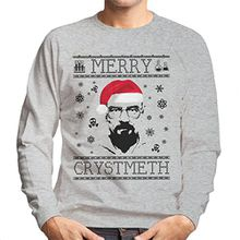 Breaking Bad Heisenberg Merry Chrystmeth Christmas Men's Sweatshirt