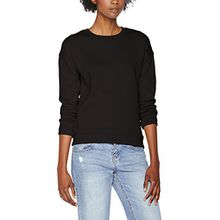 Urban Classics Damen Sweatshirt Ladies Sweat Crew, Schwarz (Black 7), X-Small