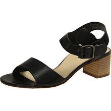 Paul Green 6085-002 Damen Sandalette aus Feinem Glattleder Lederinnenausstattung, Groesse 5 1/2, Schwarz